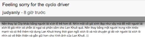 Không chỉ khán giả trong nước, mà ngoài nước cũng cho rằng Lan Khuê không gây được thiện cảm trên chiếc xích lô được đạp bởi một người tài xế già.