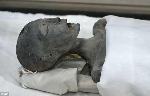 Xác ướp được cho là mẹ của Vua Tutankhamun (Nguồn: DM)