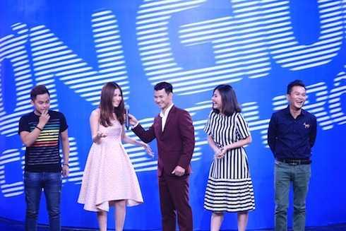 Các khách mời Diễm My 9x, Vân Trang, La Thành và nghệ sỹ cải lương Hữu Quốc.