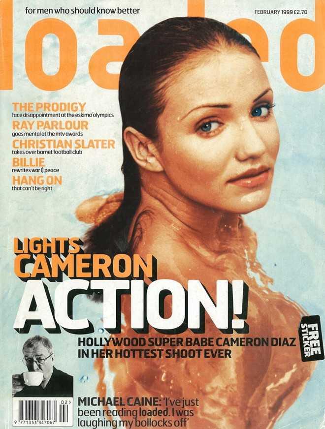 Mỹ nhân tóc vàng trên trang bìa tạp chí Loaded.