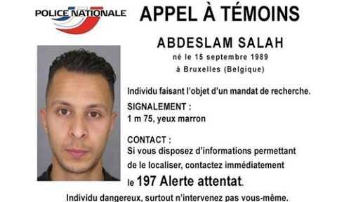 Cảnh sát Pháp ra thông báo truy tìm Abdeslam Salah