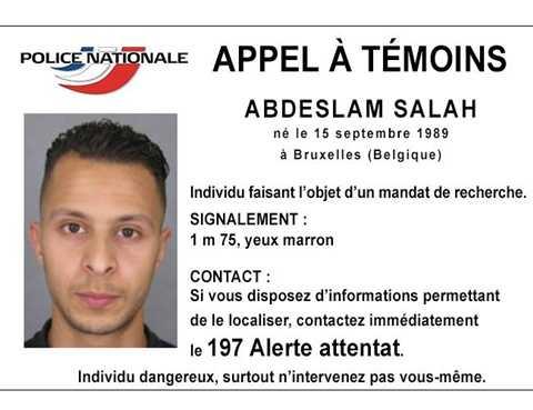 Nghi phạm Salah Abdeslam hiện đang bị truy nã gắt gao