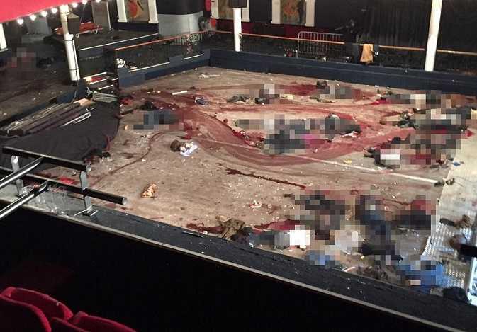 Nhà hát Bataclan chìm trong máu sau khi vụ khủng bố xảy ra