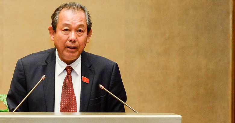 Chánh án Tòa án Nhân dân Tối cao Trương Hòa Bình báo cáo trước Quốc hội sáng 16/11