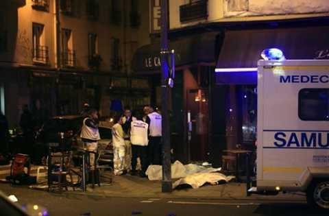 Hiện trường một vụ xả súng trong cuộc tấn công khủng bố ở Paris
