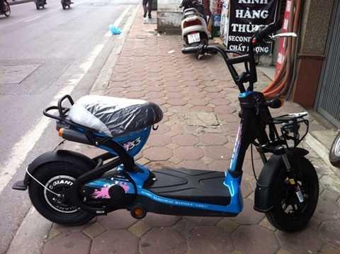 Dòng xe này có pê-đan (tháo rời bỏ trong cốp) và xích líp như xe đạp nên vẫn được công nhận là xe đạp điện, dù bề ngoài không khác gì xe máy điện