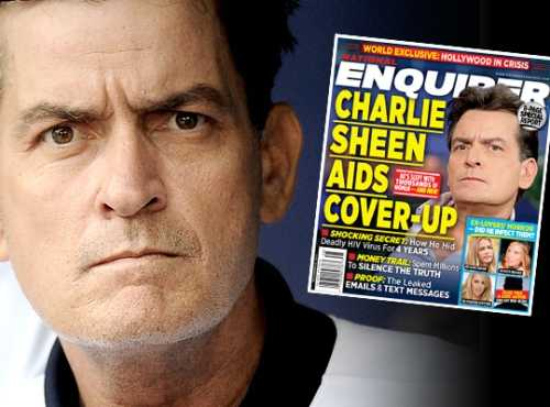 Thông tin Charlie Sheen nhiễm HIV đã xuất hiện trên nhiều mặt báo ở Hollywood.