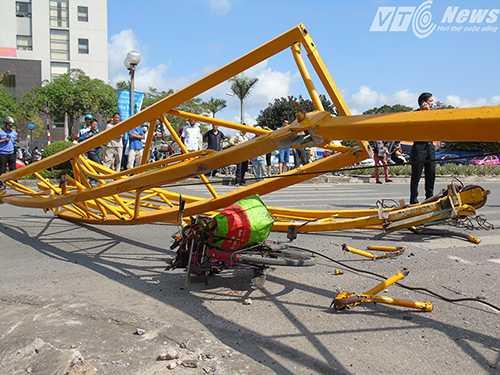Một phụ nữ quê Nam Định bị thương nhẹ, đi xe đạp không được nhắc đến trong Thông cáo báo chí của UBND TP Hải Phòng - Ảnh MK