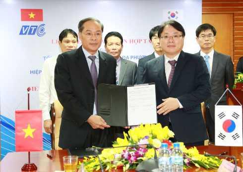 Lễ ký kết hợp tác giữa Tổng công ty VTC và Hiệp hội Phát triển Phát thanh Truyền hình Hàn Quốc (RAPA).