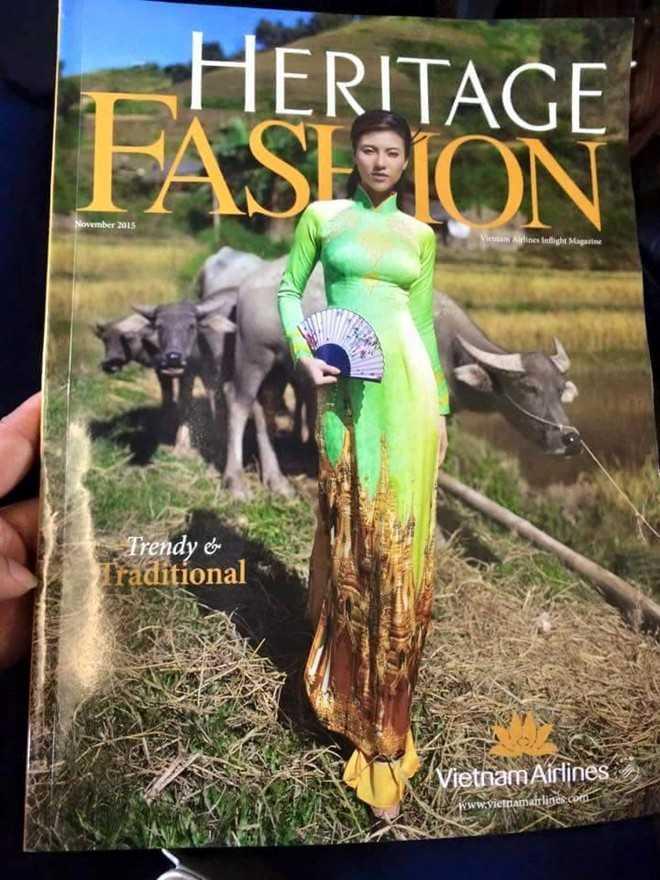 Bìa báo Heritage Fashion bị cư dân mạng chỉ trích.