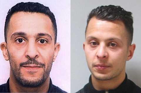 Brahim Abdeslam (trái) và em trai của y Salah Abdeslam, người đang bị cảnh sát truy lùng