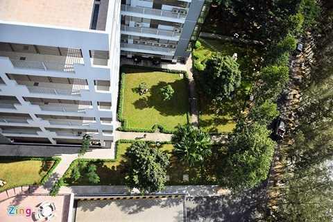 Một góc khuôn viên Đại học Tôn Đức Thắng nhìn từ trên cao.