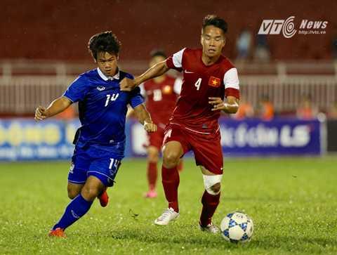 U21 Thái Lan thua vì trời mưa? (Ảnh: Quang Minh)