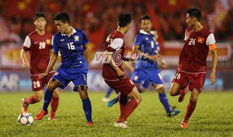 U21 Thái Lan còn non kém về kinh nghiệm so với U21 Việt Nam (Ảnh: Quang Minh)