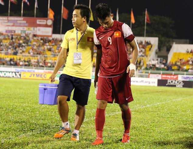 Phạm Văn Thành- tiền đạo số 1 của U21 Việt Nam (Ảnh: Quang MInh)