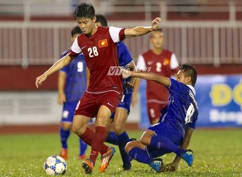 Duy Mạnh là tuyển thủ quốc gia trong màu áo U21 Việt Nam (Ảnh: Quang Minh)