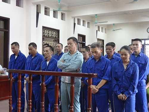 18 bị cáo tại phiên tòa
