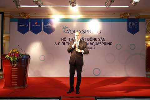 Mr.Mark Reeves - Đại diện chủ đầu tư cam kết chất lượng công trình và triển vọng đầu tư của dự án Aquaspring