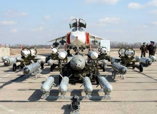 Hệ thống bom, tên lửa mà Su-24 có thể mang theo