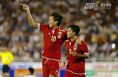 U21 Myanmar 3 lần chọc thủng lưới U21 HAGL (Ảnh: Quang Minh)