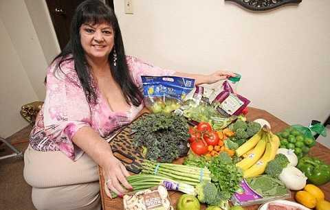 Hiện Patty Sanchez đã thay đổi chế độ ăn uống, tập trung ăn nhiều rau, trái cây