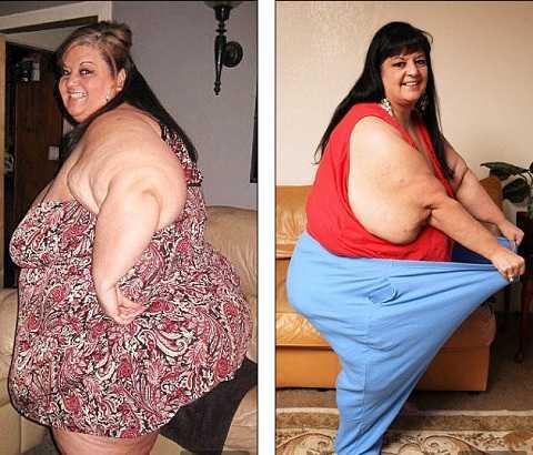 Bà đã giảm được 112kg sau khi chia tay bạn trai