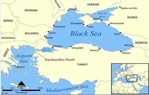Eo biển Dardanelles. Đồ họa: Quickgs