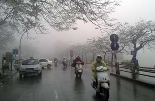 Do ảnh hưởng không khí lạnh, hầu hết các tỉnh từ Bắc vào Nam có mưa, mưa vào và dông; miền Bắc trời rét