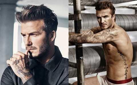 David Beckham luôn hấp dẫn bởi khuôn mặt và thân hình quyến rũ. Ảnh: Marieclaire.