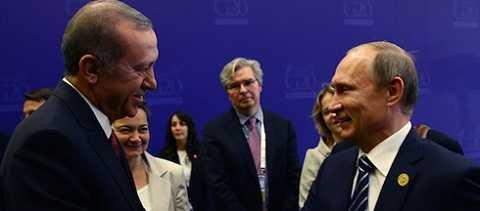 Tổng thống Nga và Tổng thống Thổ Nhĩ Kỳ gặp nhau tại Hội nghị thượng đỉnh G20 ở Antalya, Thổ Nhĩ Kỳ