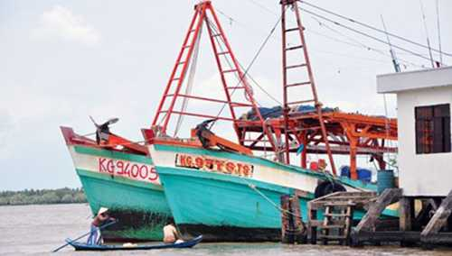 Con tàu của ngư dân Việt từng bị Cảnh sát biển Thái Lan nổ súng ngày 11/9 vừa qua.