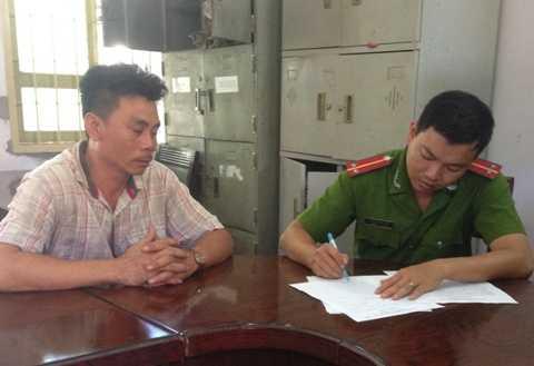Tài xế Nguyễn Bảo Toàn tại cơ quan điều tra.