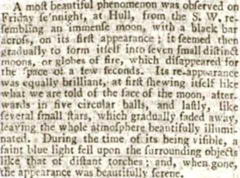 Bài báo trên Hull Packet vào năm 1801