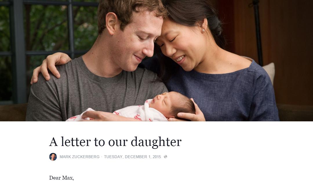 Bức thư được Zuckerberg đăng tải với tiêu đề