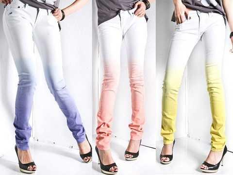 Những chiếc quần jeans nhuộm màu sắc vui nhộn và tươi trẻdành cho các cô nàng cá tính, tự tin, năng động.