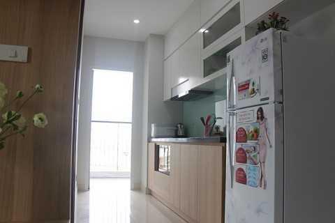 Phòng bếp nhỏ nhắn nhưng đầy đủ tiện nghi