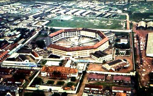 Khám Chí Hòa nhìn từ trên cao trước năm 1975. Ảnh: S.T