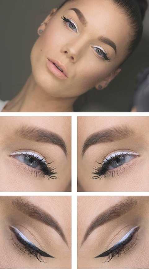 Sự kết hợp đầy nghệ thuật giữa eyeliner trắng - đen chắc chắn sẽ là thử thách thú vị cho những cô nàng ưa sáng tạo, phá cách.