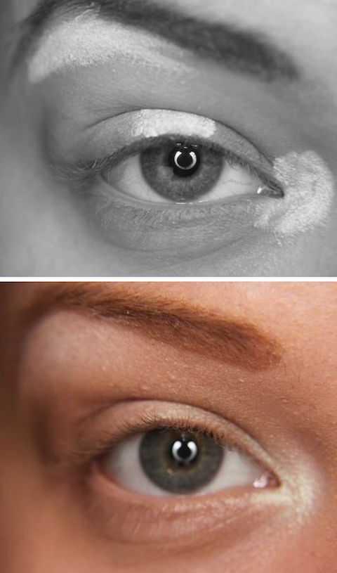Đánh highlight sau khi đã hoàn tất việc đánh phấn mắt. Và nhớ là tán đều cho màu highlight hoà tan với phấn mắt.