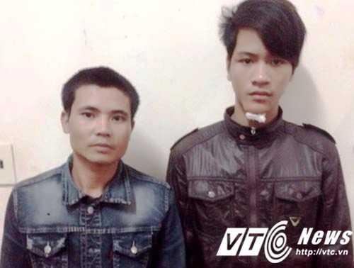 Hai đối tượng Bằng và Thanh tại cơ quan công an.