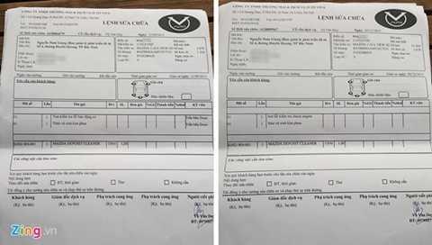 Khách hàng Nguyễn Nam Giang ở Bắc Ninh phải 2 lần đưa Mazda 3 vào đại lý để vệ sinh kim phun. Ảnh: Hân Nguyễn.