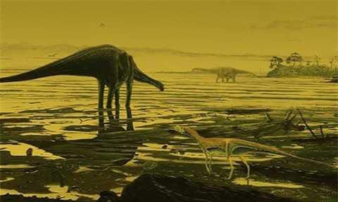 Vùng đầm lầy ven biển Scotland, nơi những con khủng long cổ dài đã sống 170 triệu năm về trước. Ảnh: Jon Hoad.