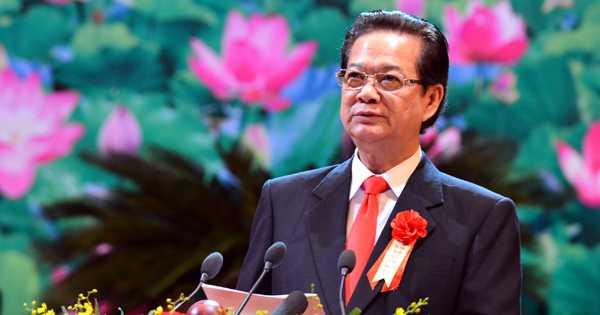Thủ tướng Nguyễn Tấn Dũng phát biểu khai mạc Đại hội Thi đua yêu nước toàn quốc lần thứ IX