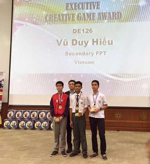 Vũ Duy Hiếu, Trường trung học cơ sở FPT giành giải Nhất thiết kế game sáng tạo