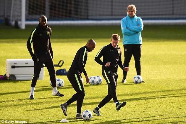Man City chuẩn bị cho trận đấu ở Champions League