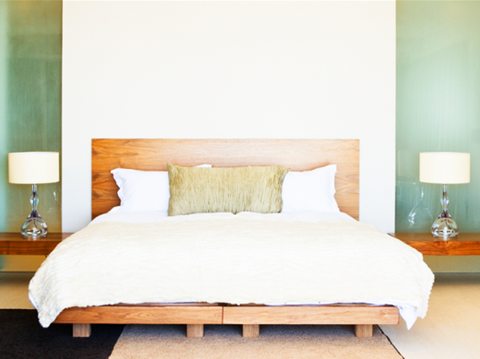 Giường ngủ luôn được ưu tiên đặt trong vị trí quan trọng nhất