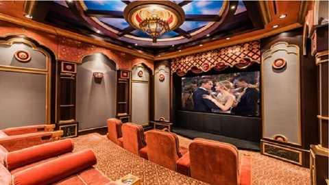 Rạp chiếu phim trong nhà là xu hướng của các đại gia