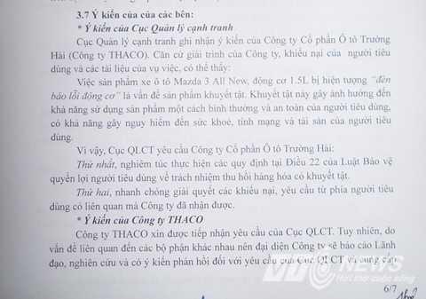 Cục Quản lý cạnh tranh yêu cầu Thaco phải thu hồi sản phẩm khuyết tật
