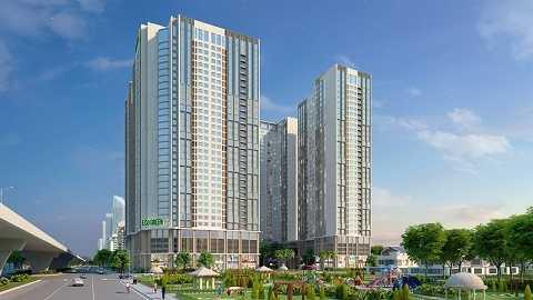Eco-Green City có mật độ xây dựng thấp, chỉ hơn 25%.