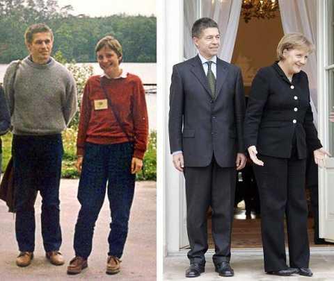 Bà Angela Merkel và chồng Joachim Sauer tại Ba Lan năm 2007 (phải)